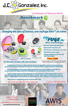 Mini centrifuge offer in Womans honor .j