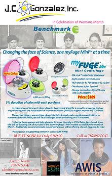 Mini centrifuge offer in Womans honor .j