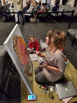 Painting in the Prayer Room IHOPKC with my neice