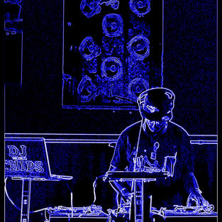 DJ CHIPS PLEXIGLASS SPEAKERS NEON
