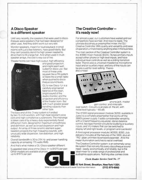 GLI DJ Advertisement