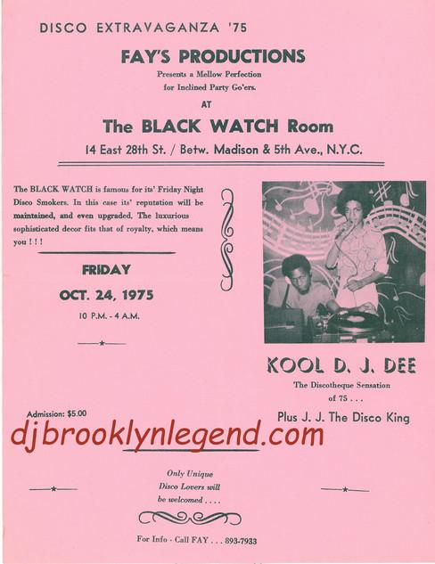 Black Watch Room Kool DJ Dee