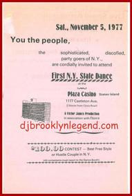 Pink Party Flier Staten Island 1977