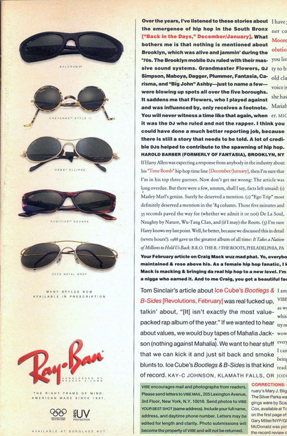Vibe Magazine Readers Responses1995