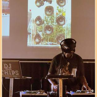 DJ CHIPS WITH PLEXIGLASS MIDRANGE BACKDR