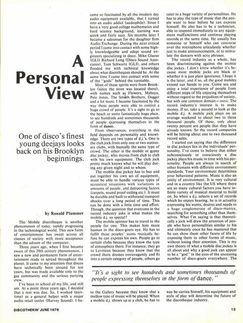 Ron Plummer Article