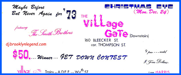 Village Gate  The Smith Bros DJs
