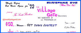 Village Gate  The Smith Bros DJs