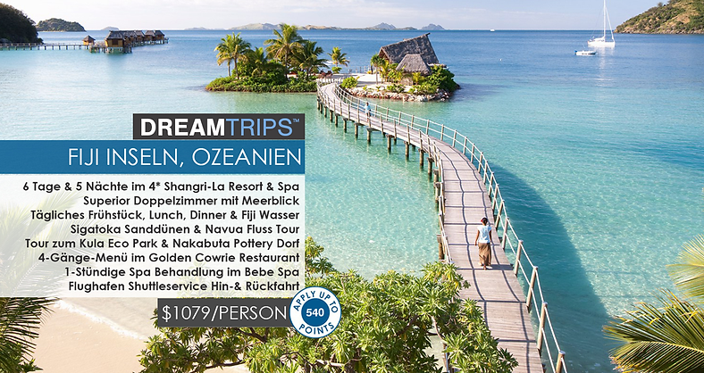 Worldventures Dream Trips FiJi Inseln