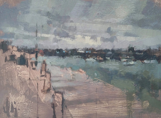 'Bands of Grey Cloud - St Ives Harbour'