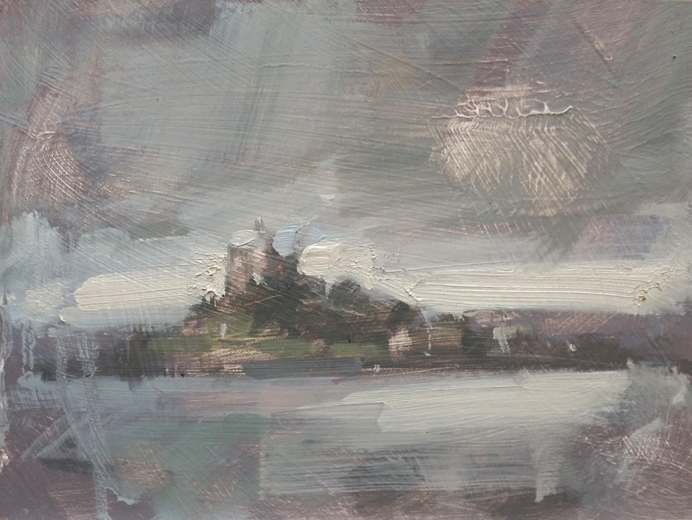 'Western Glow Through Mizzle - St Michael's Mount, Cornwall'