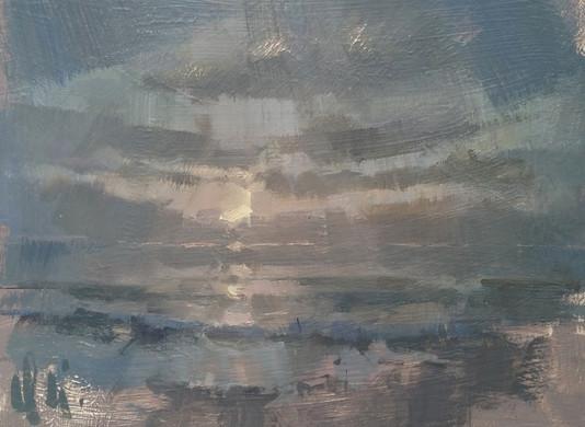 'Late Summer Sunset - Gwithian Beach, Cornwall'