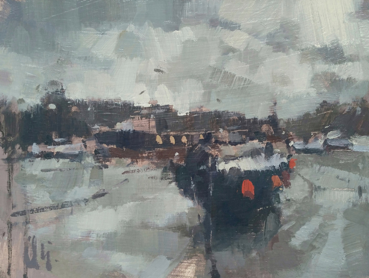 'Heavy Cloud and Low Water - St Ives, Cornwall'