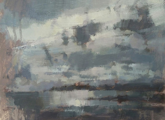 'Warm Air and Heavy Sky - Mount's Bay, Cornwall'