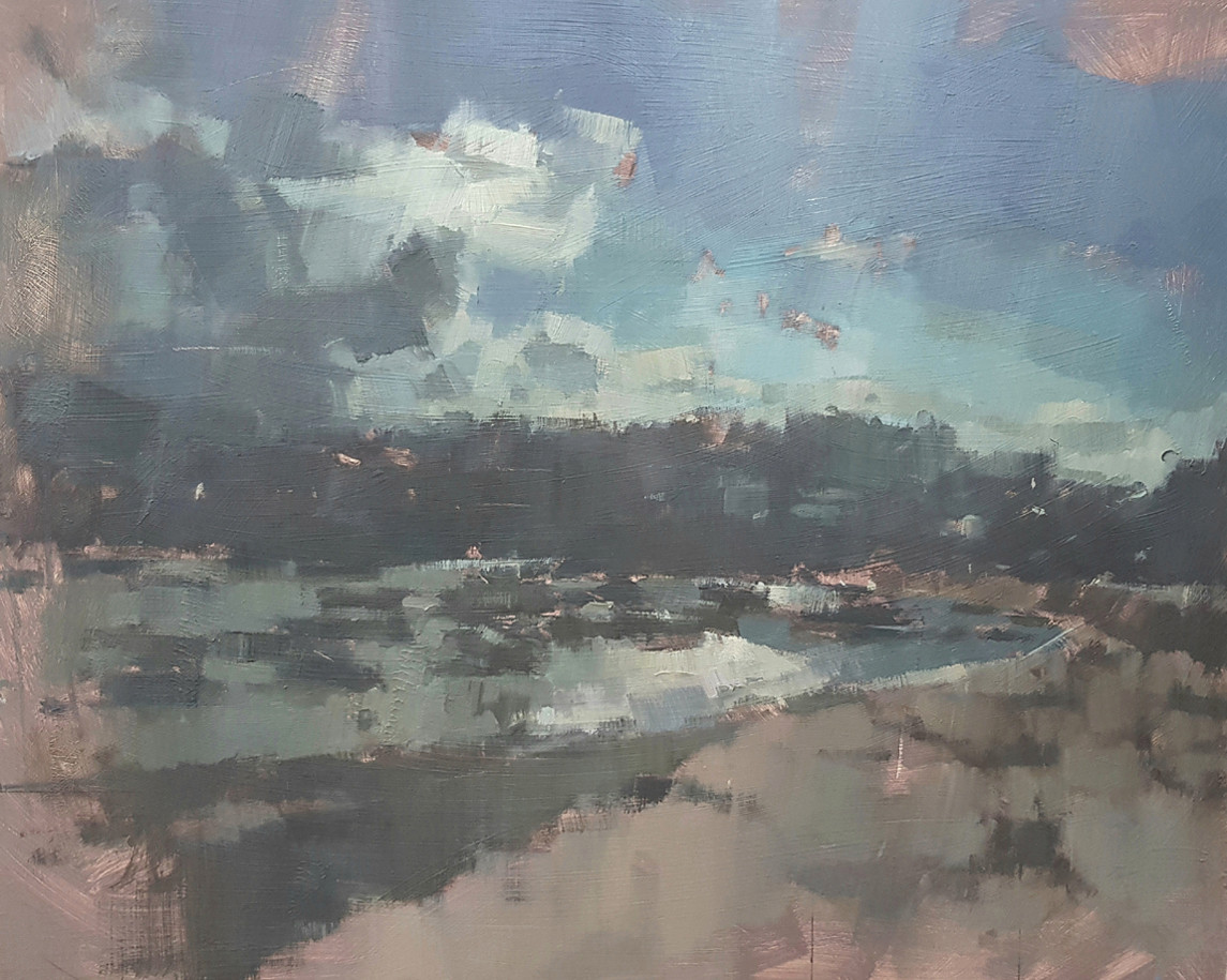 'Sunshine Breaking Through Banks of Cloud - St Ives Harbour'