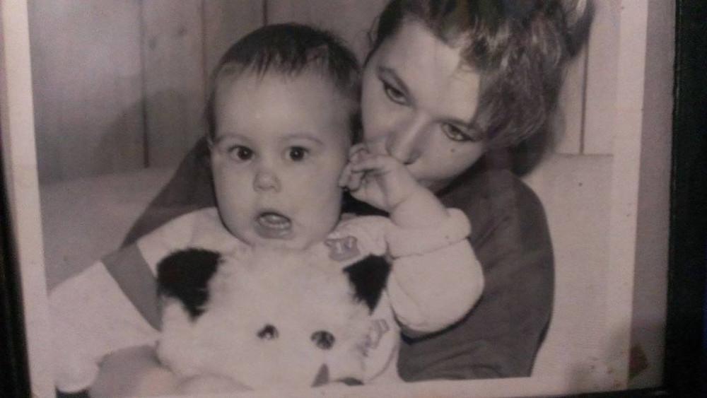 Ma mère et moi, en 1991.