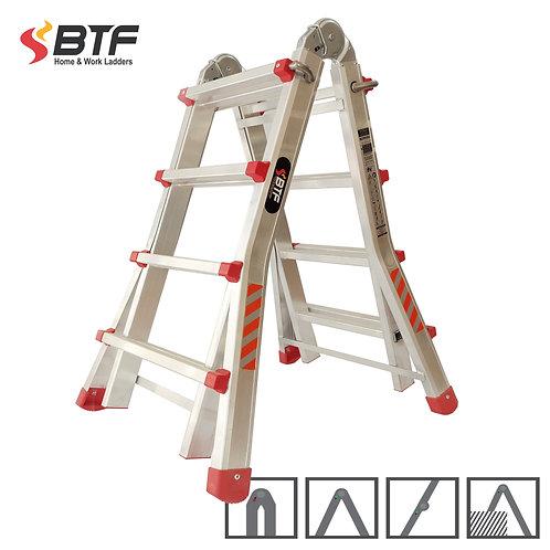 Oportunidad Escalera Articulada Telescópica 4+4 peldaños en Aluminio