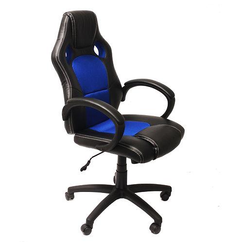Sillón Gamer RACER, Gran diseño Deportivo, Color Azul/Negro