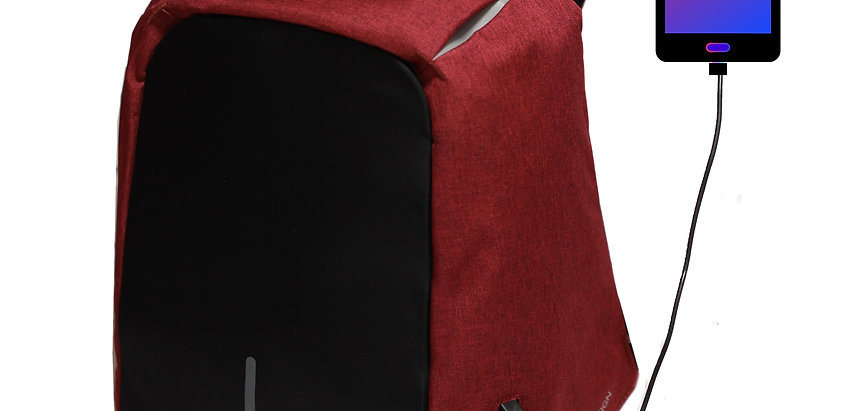 RED NW Backpack - Mochila Antirrobo  rojo oscuro