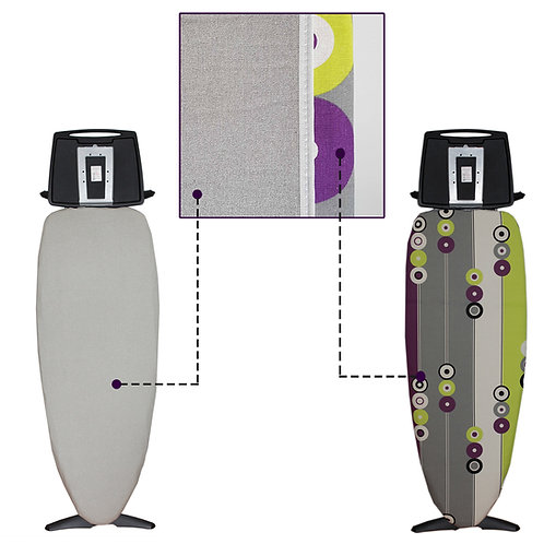 Funda para tabla de planchar metalizada Express Duo