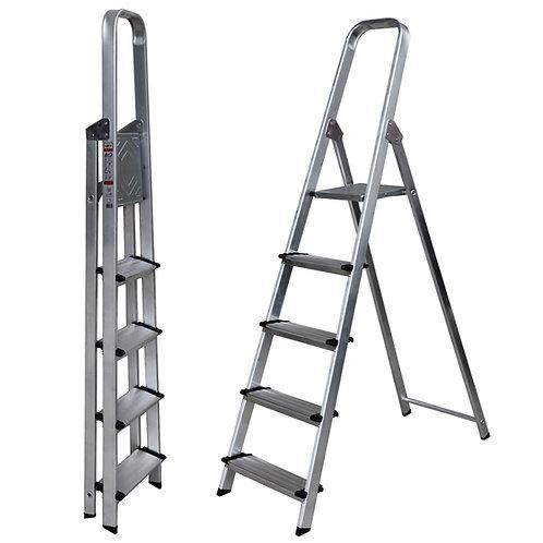 Escalera Tijera de Aluminio Peldaño Ancho