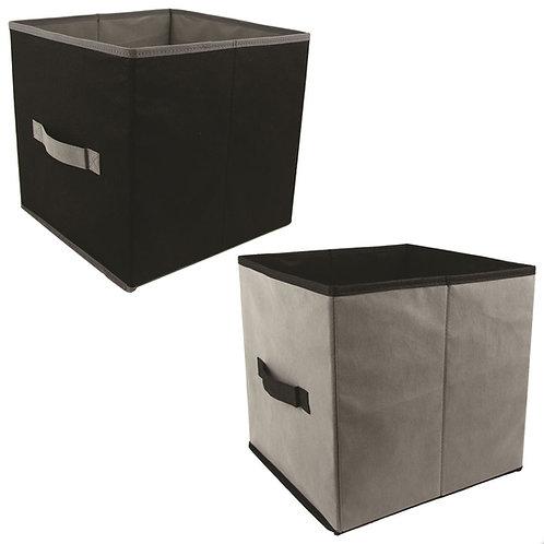 Kit 4 Cajas Almacenamiento Gris | Negro