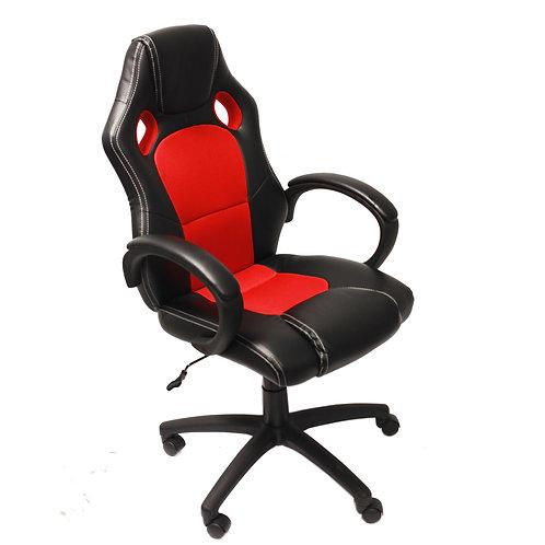 Sillón Gamer RACER, Gran diseño Deportivo, Color Rojo/Negro
