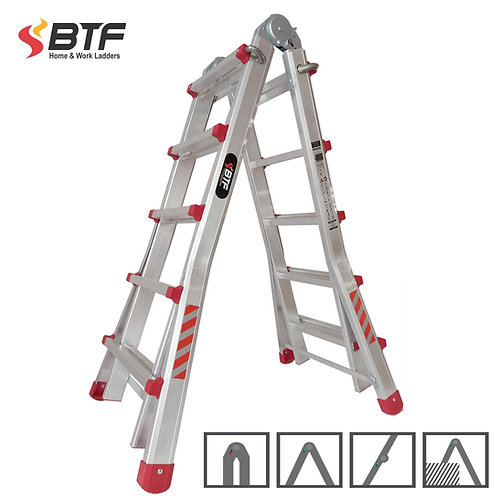 Escalera Articulada Telescópica 5+5 peldaños en Aluminio