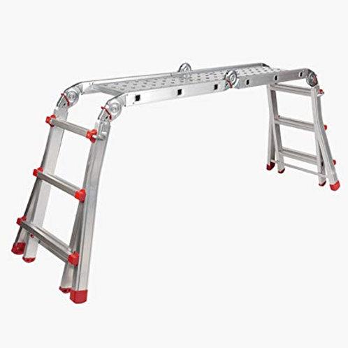 Escalera Andamio Bancada Telescópica Multiuso en Aluminio.