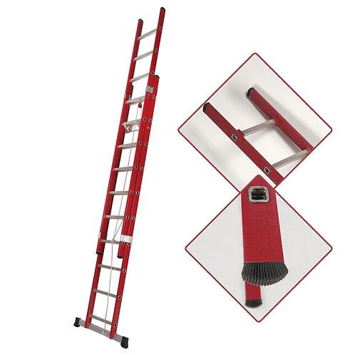 Escalera de Fibra de Apoyo  Doble Extensión Mecánica