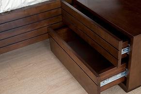 cama de madera muebles iannini