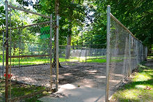 Wye river kennel outdoor playpens in nautre