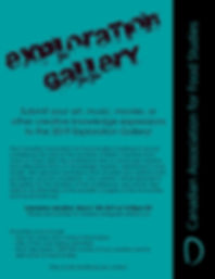 Call to Artists - Exploration Gallery at