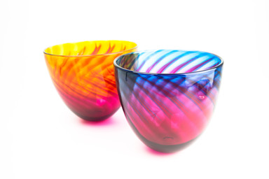 Aurora Bowl, Handmade Blown Glass, Made in Cornwall, The Glass Barn Gallery