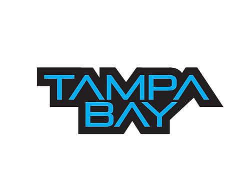 """Tampa Bay Contour Cut Sticker      2""""x 5"""""""