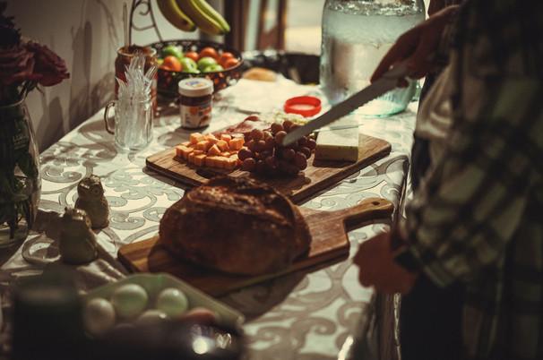 Bub & Grandma's bread at the craft table