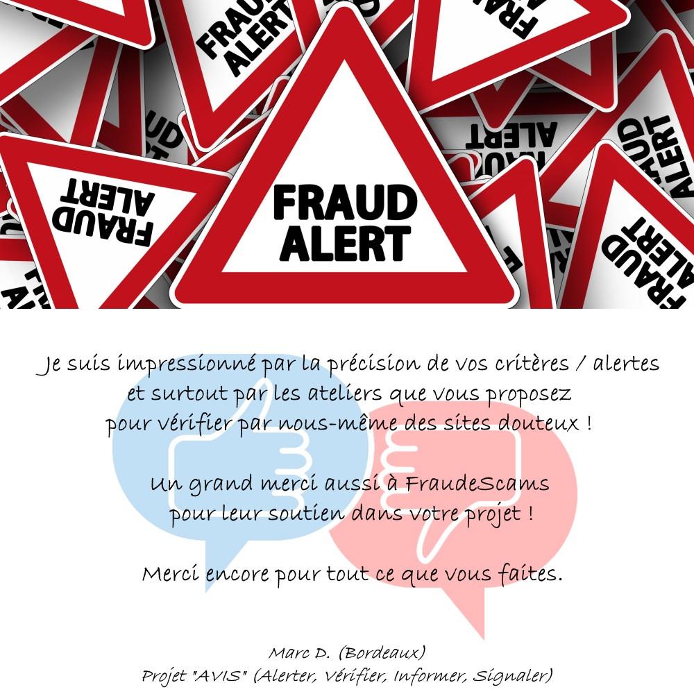 Testimony Fraud Alerts A.V.I.S.