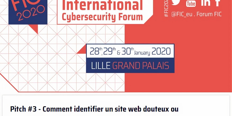 Pitch at the International Cybersecurity Forum (FIC).