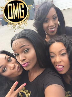 OMG Team selfie at photoshoot