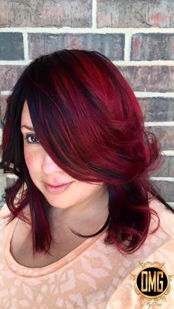 Custom Color done at OMG Hair Studio