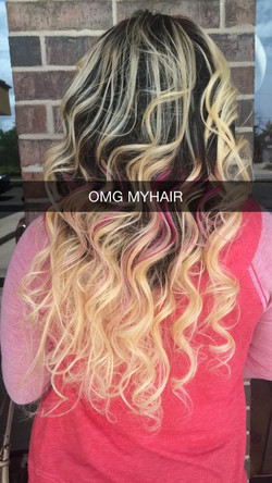 Beautiful Back shot of OMG Hair