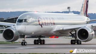 First Landing: Qatar Airways A350