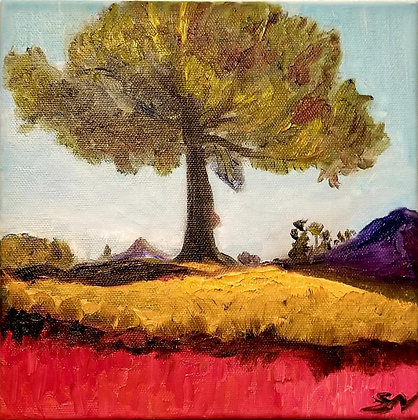 Tree on a course 8 x 8