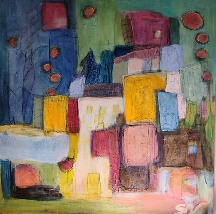 Abstract landscape 24 x 24