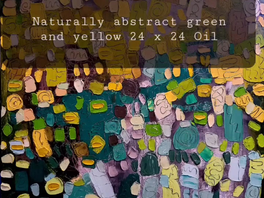 Naturally abstract green and yellow