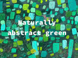Painting abstract in green