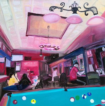 Bisbee Billiard Bar 24 x 24
