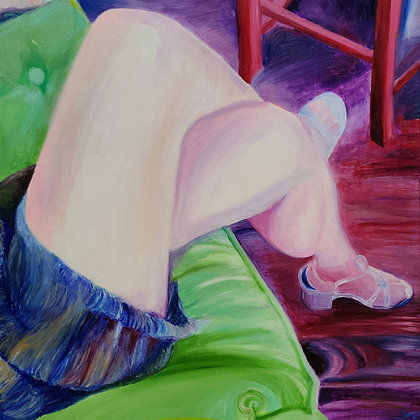 The Green Chair 24 x 24