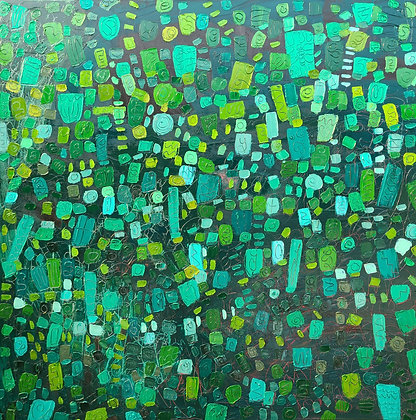 Naturally abstract green 48 x 48