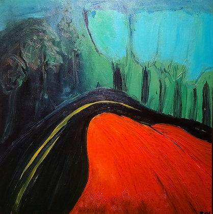 The Windy Road 24 x 24